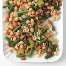 three bean pasta salad
