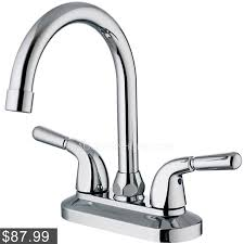 luxury crystal handle three hole waterfall bathroom faucet