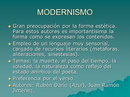imagenes literarias o contenidos sensoriales el modernismo y la generación del ppt descargar