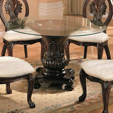 Wooden Dining Table Designs With Glass Top Dining Table Dining Table With Glass Top In Black Metal Finish