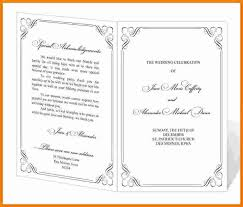 exles of wedding program templates for programs for events europe tripsleep co