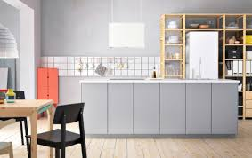 kitchen contemporary grey kitchen design with rectangle walnut