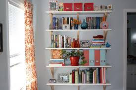 White Wall Bookcase by White Wall Mounted Bookshelves Decorating Ideas Gyleshomes Com