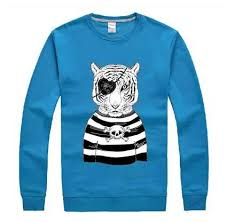 cheap pirate tiger sweatshirt for teens animal pullover sweatshirt