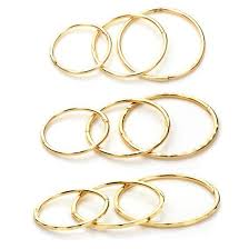 sleepers earrings 9ct yellow gold plain patterned hinged hoop sleeper hoops