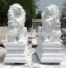 marble lions carved marble roaring lions buy marble lion sculpture