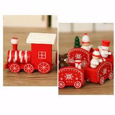 mayitr creative christmas ornaments wooden train santa claus