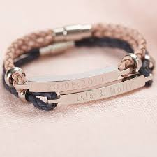 Personalized Bangles Personalised Women U0027s Leather Identity Bracelet By Suzy Q Designs