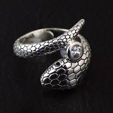men ring designs japan jewelry simple snake design silver 925