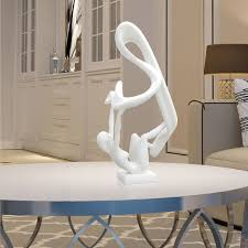 sculpture home decor best and cheap white tomfeel flutter 3d printed abstract sculpture