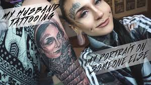 my husband tattooing my portrait on someone else youtube