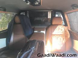 toyota limo interior toyota fortuner limousine takes customisation to new level