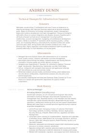 Sample Project Manager Resume by Technical Manager Resume Sample