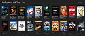 apple is offering several movie bundles at deep discounts in itunes