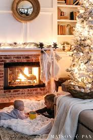Top 10 Favorite Blogger Home Tours Bless Er House So Christmas Lights At Night Holiday Home Tour Maison De Pax