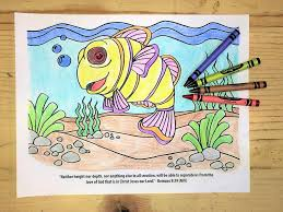 finding jesus under the sea coloring page u2013 children u0027s ministry deals
