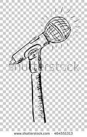 hand draw sketch microphone stock vector 464550764 shutterstock