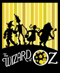 kids follow the yellow brick road to the wizard of oz