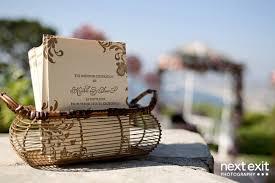 basket for wedding programs gold letterpress wedding programs elizabeth designs the