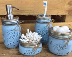 Sports Bathroom Accessories by Painted Mason Jars Set Of 3 Sports Jars Home Bathroom