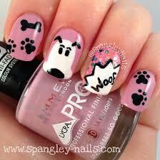 spangley nails uk nail art blog cartoon dog themed nail art dog