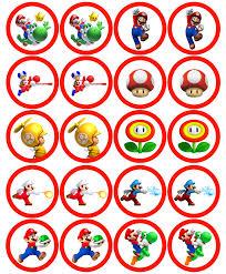 Mario Bros Wall Stickers Http Www Joshbyers Com Blog 2013 08 Super Mario Bros Cupcake