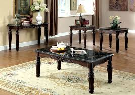 Marble Top Sofa Table by Furniture Liquidators Baton Rouge La Brampton 3 Piece Dark