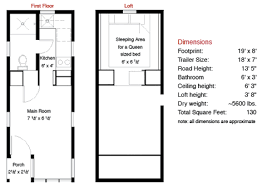 House Floor Plans With Dimensions 130 Sf Fencl Tiny House And How To Build Your Own