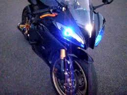 yamaha r6 halo lights yamaha 2009 r6 hid halo lights youtube