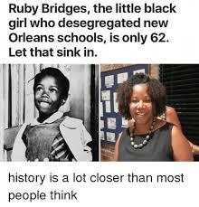 New Black Girl Meme - ruby bridges the little black girl who desegregated new orleans