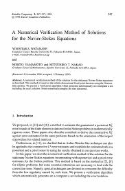a numerical verification method of solutions for the navier stokes