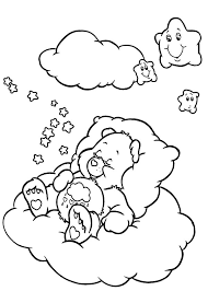 adorable care bears colouring happy colouring
