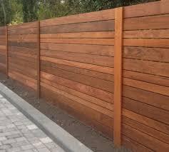 image of horizontal fence panels style secret garden