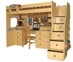 Kids Bed And Desk Combo Bed Desk Combo Full Wall W Walnut Image On Stunning Kids Bunk Beds