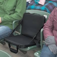 heated and massaging stadium seat cushion green head