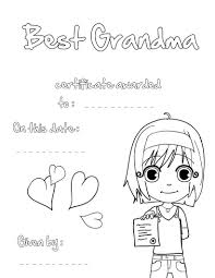 best grandma certificate coloring pages hellokids com
