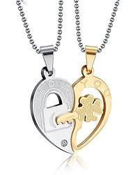 steel heart necklace images 81 best couple necklace pendant images couple jpg