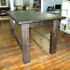 bar height table industrial industrial farm table traams co