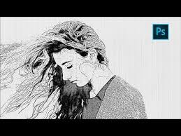 photoshop sketch effect tutorial how to turn photo into pencil