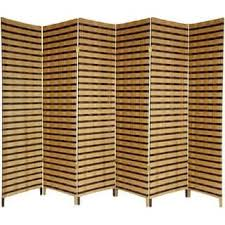 handmade wood handmade wood and fiber 6 foot 6 panel two tone room