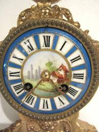 Beautiful Clocks by Beautiful Antique French Clock Set Garniture C 1890 France From