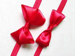 satin ribbon bows snow white headband bow hairband hair accessories baby kids