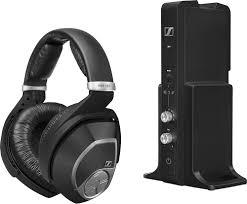 home theater headphones wireless sennheiser over the ear wireless headphone system black rs 195