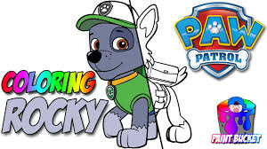 paw patrol coloring book rocky episode colouring pages from