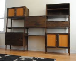 mid century style wall unit living room ideas