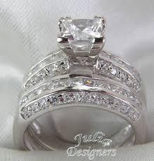 silver wedding ring sets princess cut wedding rings sets wedding corners