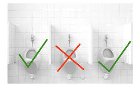 Urinal Checkmate Meme - is there a pattern as to how guys choose urinals when entering a