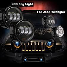 led lights for jeep wrangler led 4 fog lights jk jku auto line