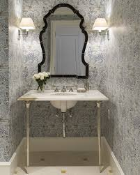 powder rooms with wallpaper powder room chic wallpaper jk kling designs simplified bee