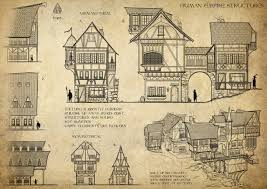 fantasy architecture by alexjjessup witcher 3 building house home